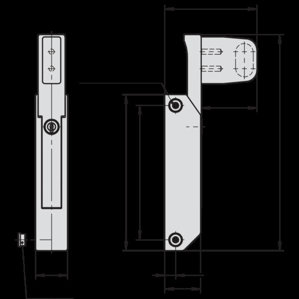 Schubladenverschluss Zeichnung Masse